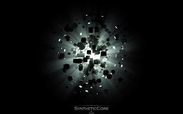 свет, взрыв, кубишки, syntheticcore