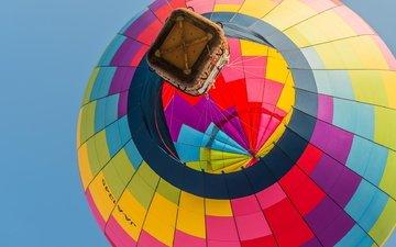 небо, корзина, спорт, воздушный шар