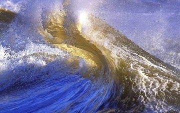 волны, брызги, пена, природа.море