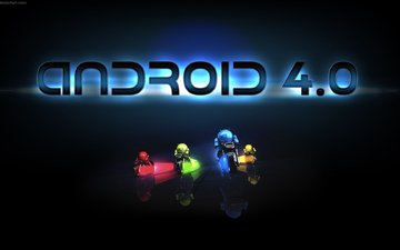 android, yellow, blue, red, android 4.0, green