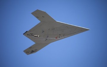 the sky, flight, usa, first, navy, combat drone, x 47b