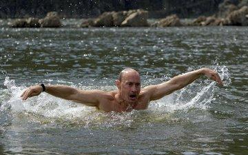 вода, россия, руки, путин, президент, владимир, мимика