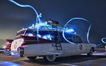 ghostbusters, ecto-1, cadillac miller meteor