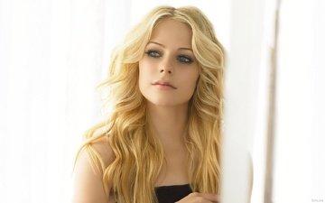 свет, блондинка, взгляд, аврил лавин