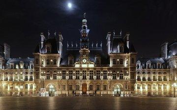 париж, площадь, отель, hotel de ville, отель-де-виль, франци