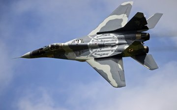 the plane, weapons, polish mig-29