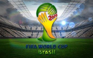 футбол, флаг, стадион, кубок мира, фифа, 2014 год, чемпионат мира, по футболу, бразилии