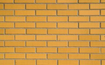 узор, стена, кирпич, жёлтая