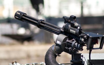 machine gun, m134 minigun, multicore