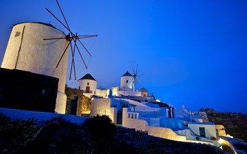 греция, ветряки, oia