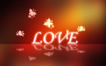 любовь, бабочки, влюбленная