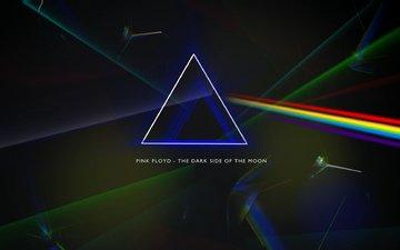 призма, pink floyd, обложка альбома, the dark side of the moon, progressive rock