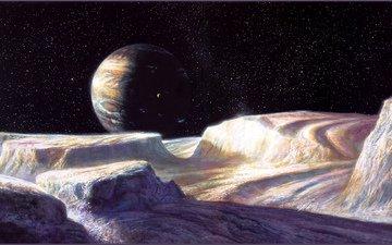 space, planet, satellite, bob eggleton