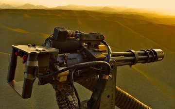 machine gun, minigun