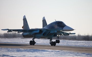 su-34, bomber, dry, the russian air force, fullback