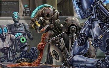 food, robots, bernard bittler, threat, spaghetti, sauce