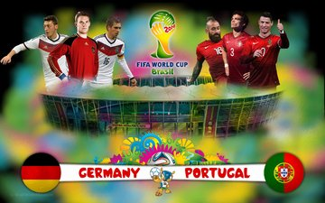 the world, portugal, on, match germany, the championship, football, brazil