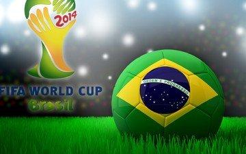 футбол, флаг, бразилия, мяч, кубок мира, фифа, 2014 год, по футболу, brasil