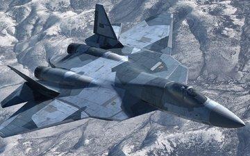 aviation, fighter, russian, multipurpose, pak fa, t-50, sukhoi, fifth generation