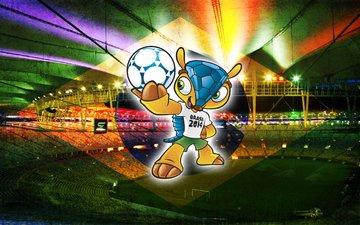мира, по, чемпионата, талисман, в бразилии 2014, футболу