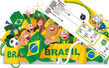 a ticket to the game on the world cup in