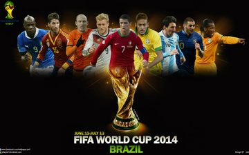 the world, players, championship, football, in brazil 2014