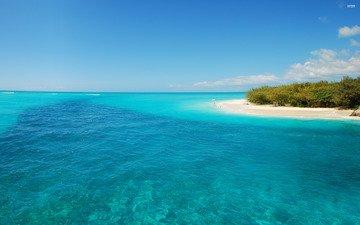 the sky, landscape, sea, beach, coast, the ocean