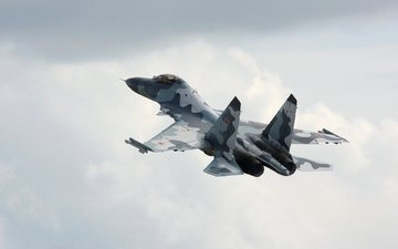 the plane, fighter, su-35, multipurpose, the sky. wysota