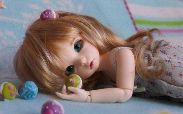 кукла, волосы, игрушки
