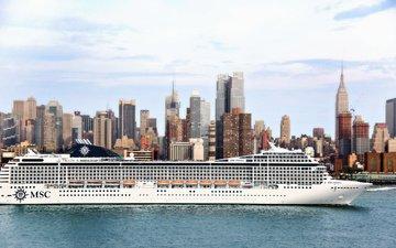 судно, лайнер, пассажирский, msc, poesia