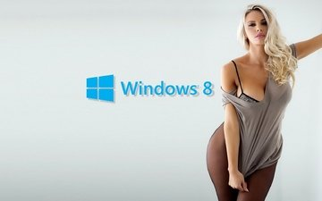 girl, windows 8