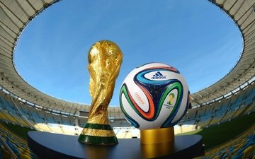 the ball and cup fifa world cup 2014