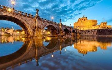 италия, рим, ponte santangelo, st. angelo bridge, vatican
