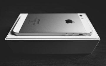 телефон, коробка, гаджет, iphone 5s, эппл