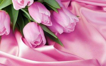 розовый, тюльпаны, 8 марта, шелк
