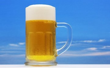 the frost-coated mug of beer