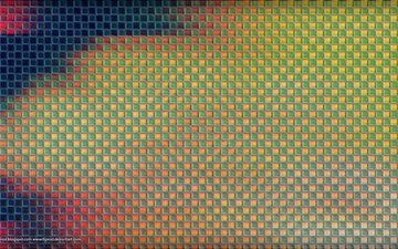 кубы, стекло, пиксели