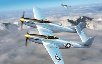 aircraft, the p-51, f-82
