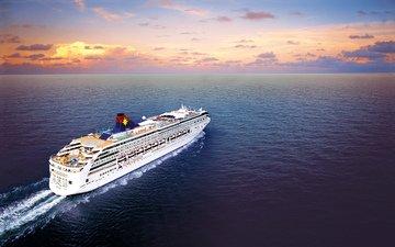 вода, море, судно, лайнер, пассажирский, на ходу, star virgo