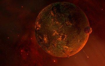 planet, satellite, sci fi