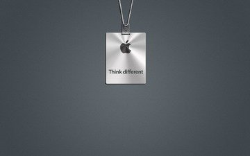 grey, mac, logo, think different, apple