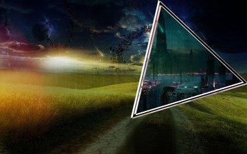 космос, море, поле, планеты, портал, эротика, кибер город.