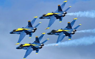 aviation, aircraft, blue angels