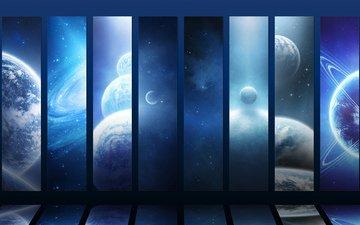 звезды, планеты, галактики, planets, просторы вселенной