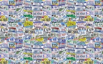 текстуры, буквы, цифры, знаки, номера