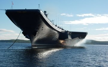 море, техника, корабль., крейсер (авианосец) адмирал кузнецов