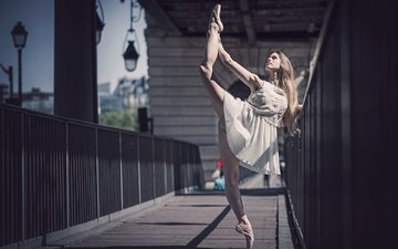 girl, pose, rhythmic gymnastics, ballerina