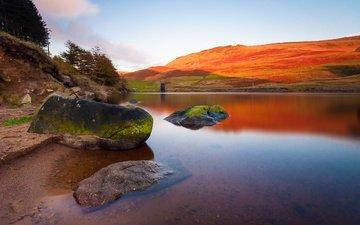 вода, камни, англия, peak district national park, национальный парк пик-дистрикт, шеффилд, пик-дистрикт, peak district