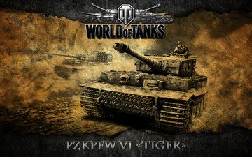 tiger, tanks, germany, world of tanks, wot, pzkpfw vi tiger, heavy tank