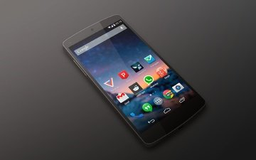 android, black, smartphone, nexus 5, by lg, kit kat, google